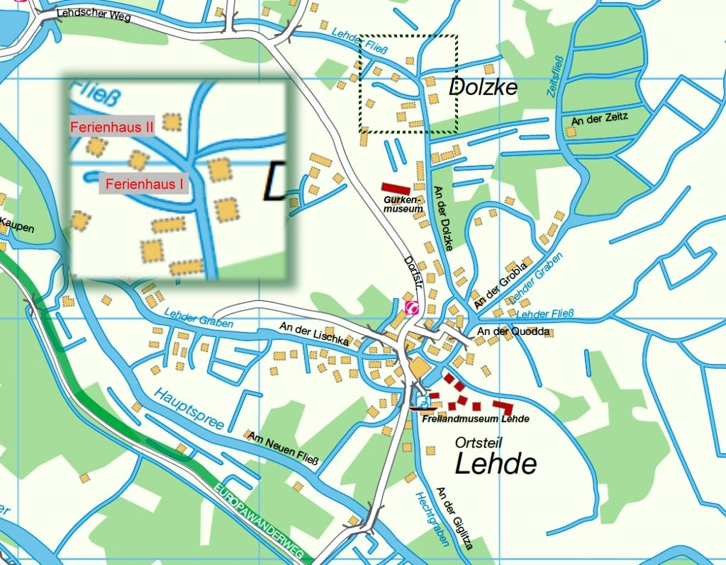 Karte Spreewald Lubbenau.Lage Ferienhaus In Lehde